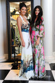 Kendall and Kylie Jenner at Kim's Bridal Shower, Aug 23