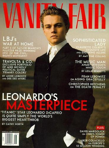 Leonardo DiCaprio wallpaper probably with a business suit and anime titled Leo Magazine Cover