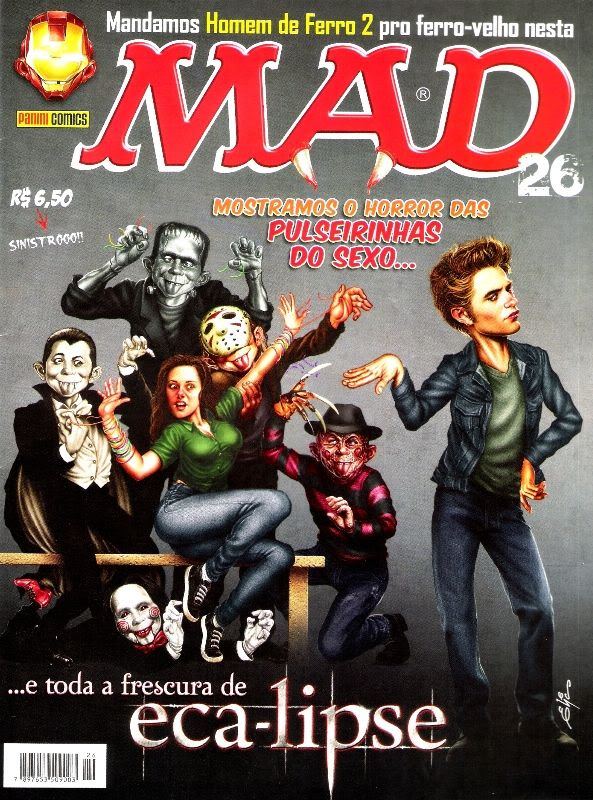 Mad Magazine Cover of Edward and Bella