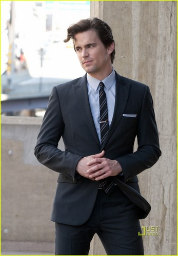 Matt Bomer: 'White Collar' on Tramway Platform