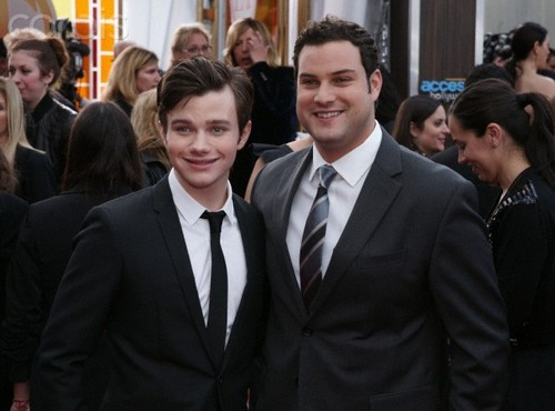 Max with Chris Colfer at the SAG Awards 2011