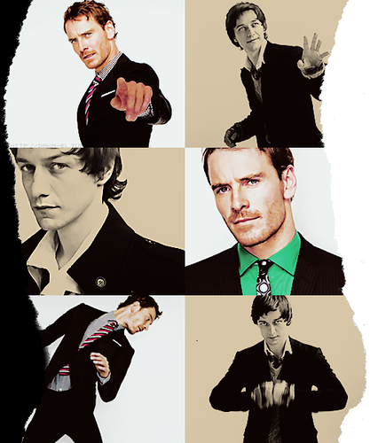 James McAvoy and Michael Fassbender wallpaper containing a business suit and a well dressed person entitled McFassy