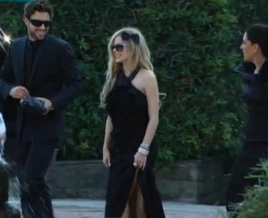 New Pictures of Avril Lavigne and Brody Jenner at Kim Kardasian's Wedding