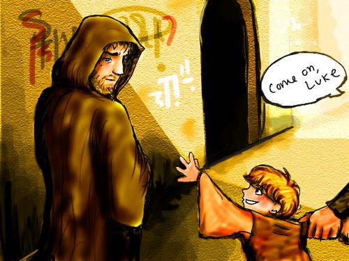 Obi-wan and Little Luke!!:D