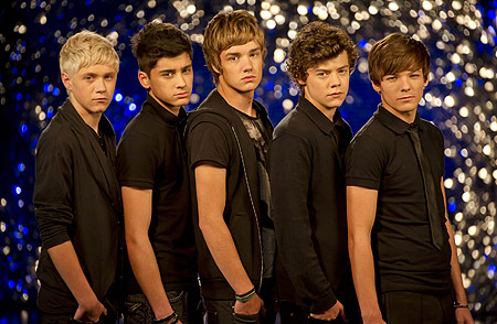 One Direction when they got their new look on X factor