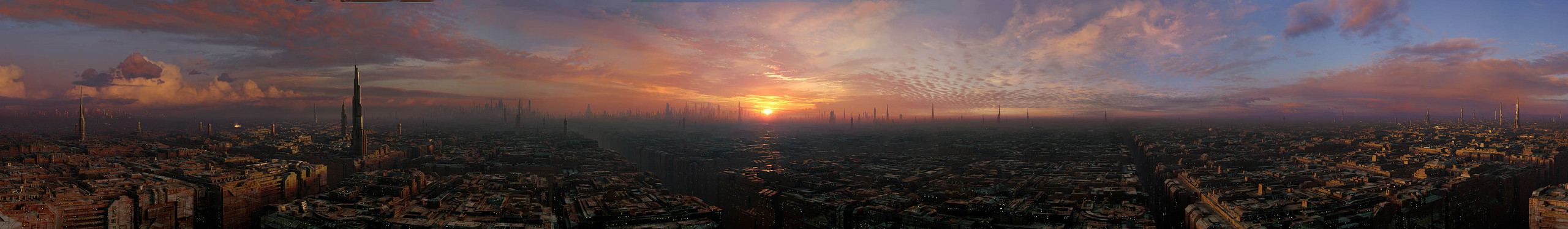 Panoramic view of Coruscant (4096/596)