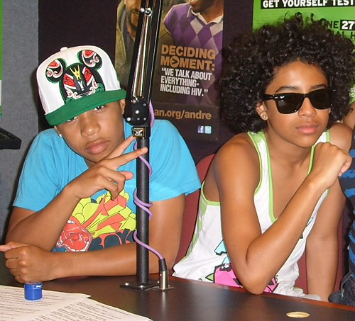 Princeton & Roc Royal in the Radio Studio