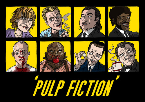 Pulp Fiction Wallpaper With Anime Titled