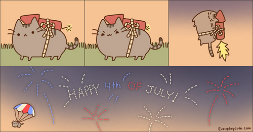Pusheen 4th of July