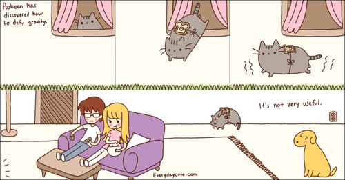 Pusheen has discovered how to defy gravity - pusheen-the-cat Photo