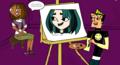 Duncan painting Gwen