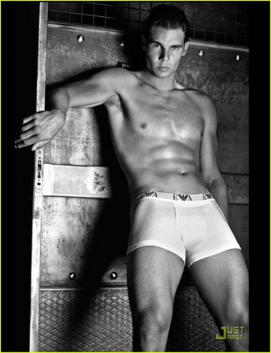 Rafael Nadal: Shirtless for Armani Jeans & Underwear!