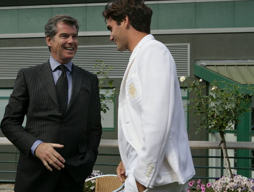 Roger with celebrity