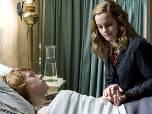 Ron and Hermione wolpeyper