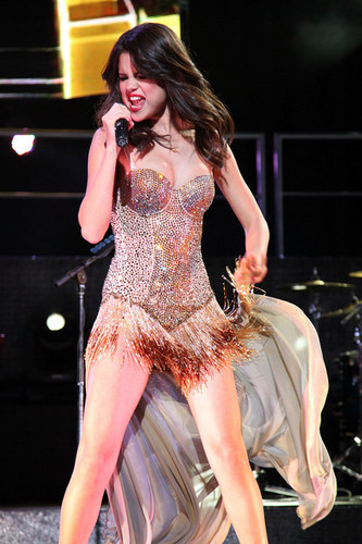 Selena Gomez Performs At Bethel Woods Art Center On August 5, 2011 In Bethel, New York