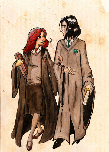 Snape and Lily.  - severus-snape-and-lily-evans Fan Art