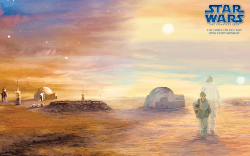 Star Wars wallpaper probably containing a sunset entitled Star Wars