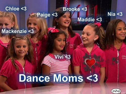 The Girls Of Dance Moms wallpaper probably with a portrait titled The Girls Posing