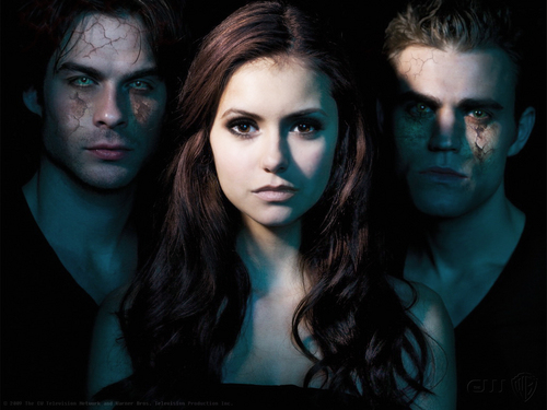 Vampire Diaries karatasi la kupamba ukuta with a portrait called Vampire Diaries