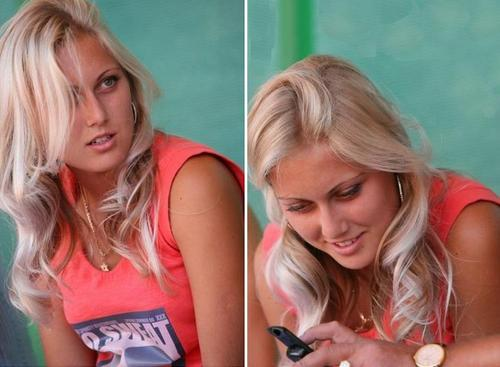 Kristina Antoniychuk in Smart Phone Attention