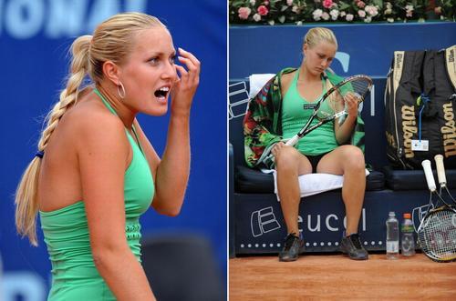 Kristina Antoniychuk in Clay Frustration