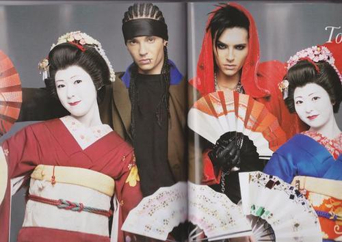 Tom & Bill Kaulitz fond d'écran with a kimono and a bearskin titled WWD