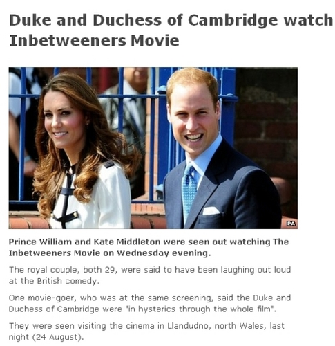 Will&Kate went to see a movie