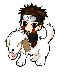 Anime Chibi Images Akamaru And Kiba Wallpaper Background Photos