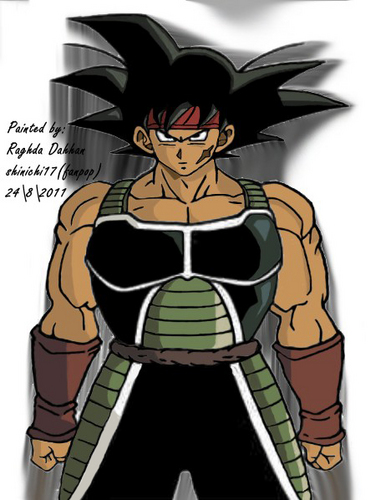 bardock painted by shinichi17