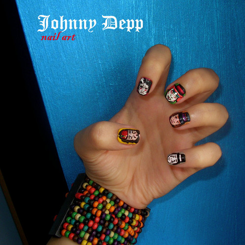 johnny depp nail art