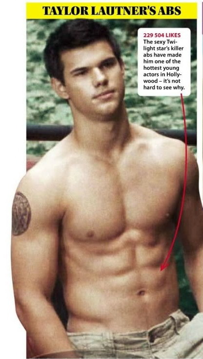 Opinion you taylor lautner abs