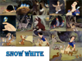 snow white with animaux