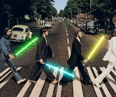 the beatles...with super cool lightsabers!
