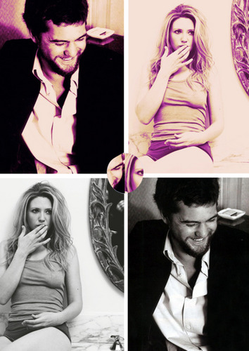 Anna Torv and Joshua Jackson দেওয়ালপত্র possibly with a sign, জীবন্ত, and a portrait entitled torvson <3