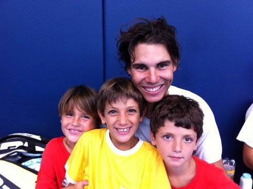 who among us is sexier? rafa with children