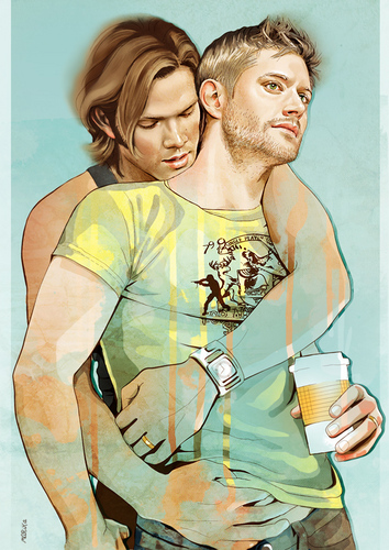 Wincest wallpaper possibly containing a portrait called wincest