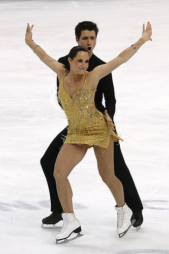 Tessa Virtue & Scott Moir wallpaper with a leotard, a maillot, and a bustier entitled  2011 World Championships