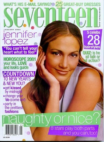 2001 seventeen cover - jennifer lopez interview