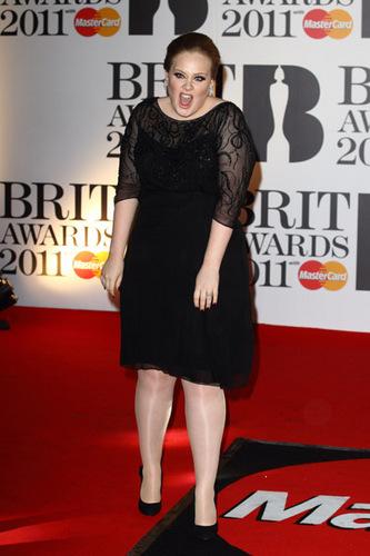 Adele Brit Awards 2011