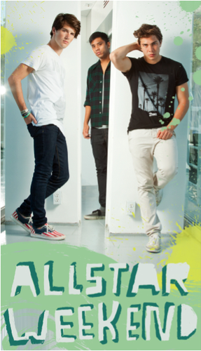 Allstar Weekend wallpaper probably containing a pantleg, long trousers, and a sign titled Allstar Weekend Locker Poster