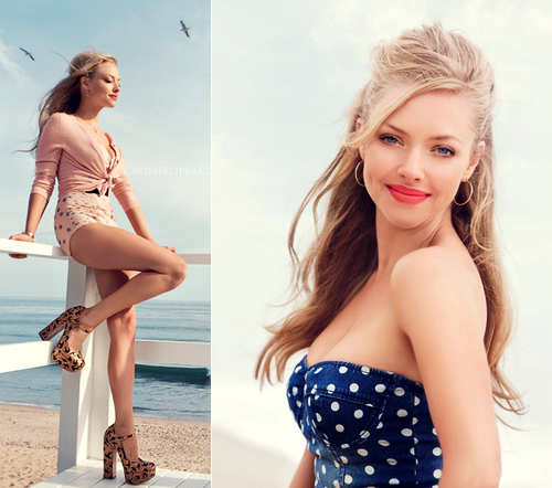 Amanda Seyfried wallpaper possibly with a maillot, a swimsuit, and a swimsuit titled Amanda