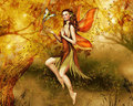 Autumn Fairy - daydreaming wallpaper