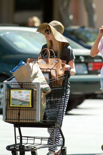 Avril spotted grocery shopping in Malibu August 28