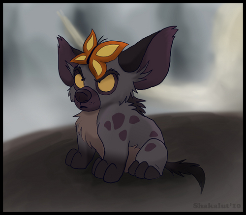 Hyenas from Lion King karatasi la kupamba ukuta entitled Banzai hates butterflies