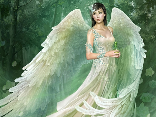 Angels پیپر وال called Beautiful Angel