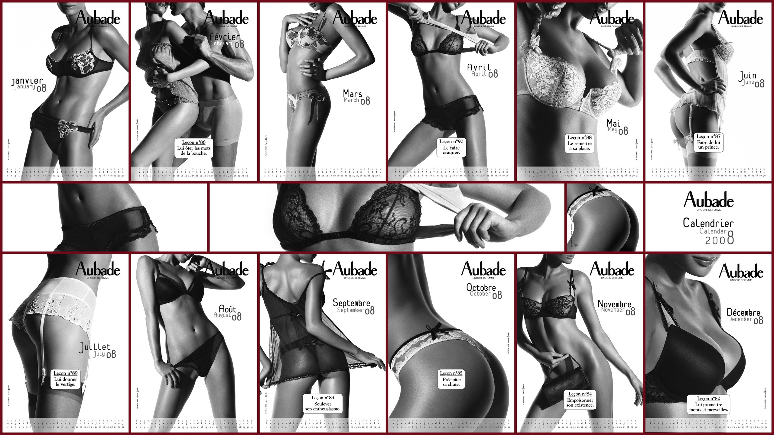 calendrier aubade 2008