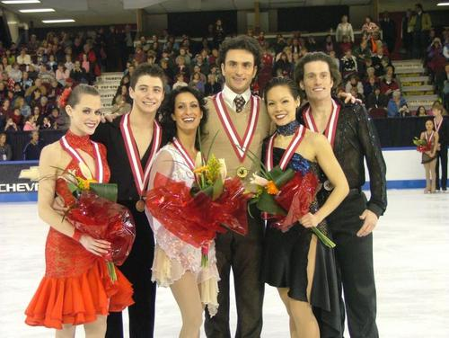Tessa Virtue & Scott Moir wallpaper with a bridesmaid called Canadian National Championship's 2006 - Ottawa