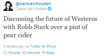 Carice van Houten @ twitter