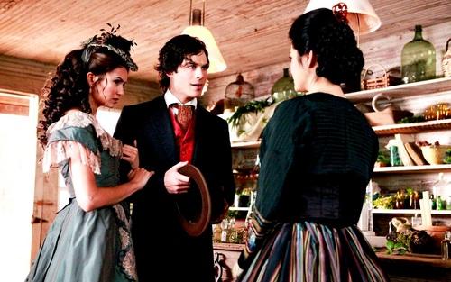 Damon and Katherine wallpaper