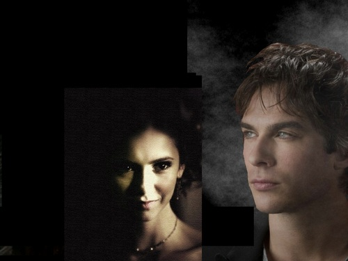 Damon and Katherine fondo de pantalla